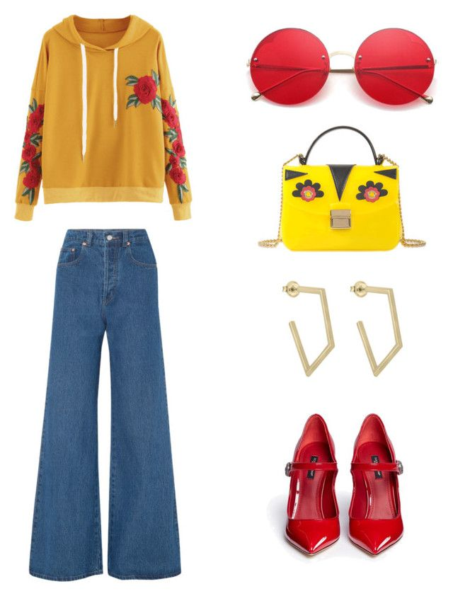 """""""Untitled #161"""" by denisapurple on Polyvore featuring Solace, Dolce&Gabbana and Furla"""