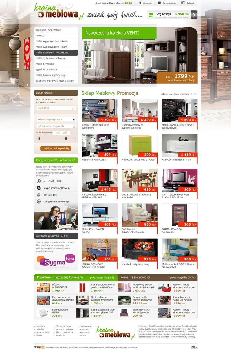 WebDesign 2013 - grafika dla sklepu internetowego Kraina Meblowa