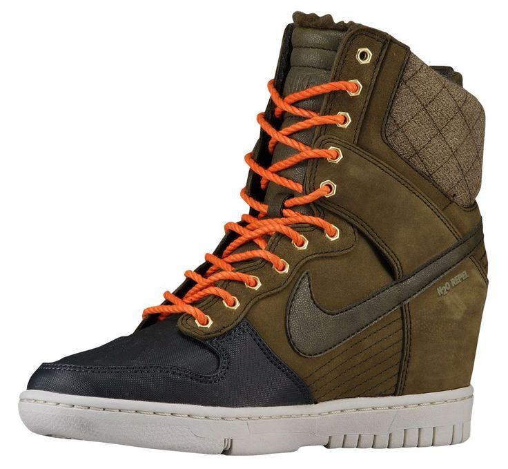 Nike Dunk Sky Hi Sneaker Boot Herr/Dam Mörk Röda Basketskor