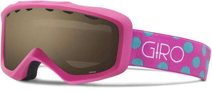 Giro Grade Snow Goggle 2016 - Kid's Magenta/Turquoise Dots with Amber Rose Lens. Double-layer Face Foam with Microfleece Facing. Anti-fog Coating. Seamless Compatibility with Giro Youth Helmets. Cylindrical Thermoformed Lens. Medium Youth Frame.