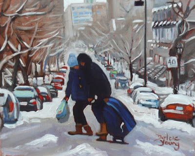 Darlene Young a Painting a Day: 1013 McGill Ghetto, Moving In, 8x10, oil on board