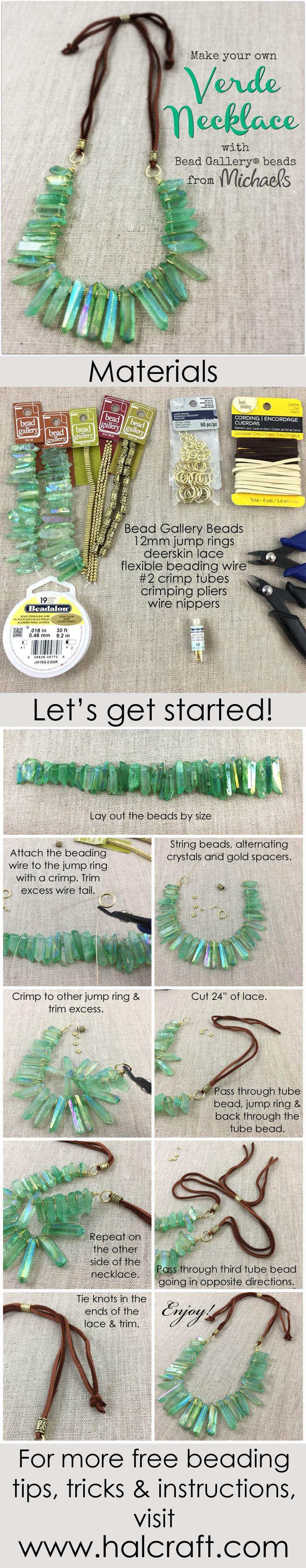 Monday Make :: Verde Necklace - Halcraft USA
