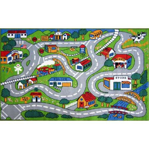Fun Time Country Road Indoor/Outdoor Area Rug