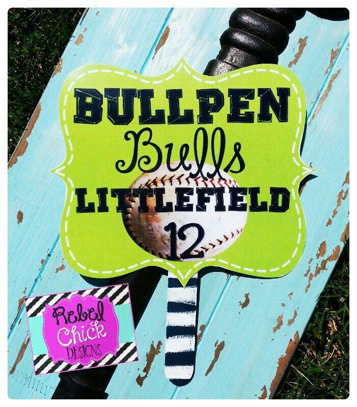 Personalized GAMEDAY Baseball Fan for hot days at the ball field!  #baseball #personalized #baseballmoms #football #soccer #softball #cheer #bulls