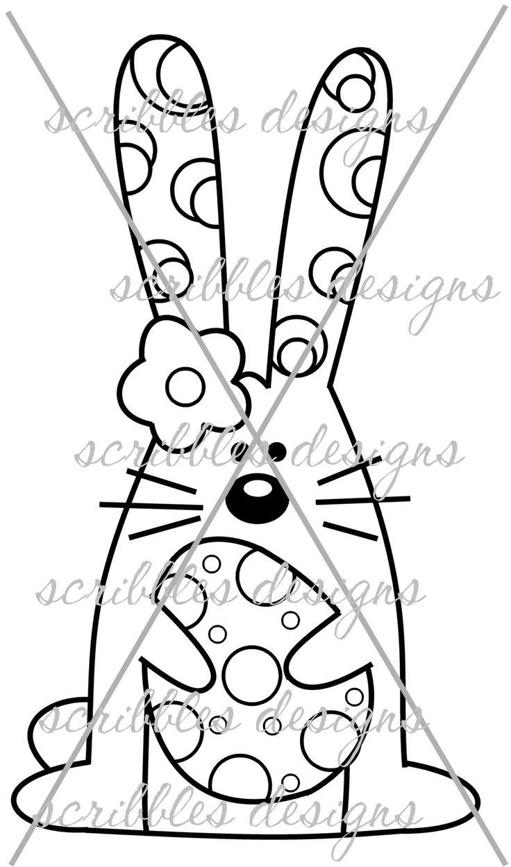 $3.00 Hoppy 3 (http://buyscribblesdesigns.blogspot.ca/2014/03/426-hoppy-3-300.html) #digital stamps #digis #bunny #Easter #egg #scribbles designs