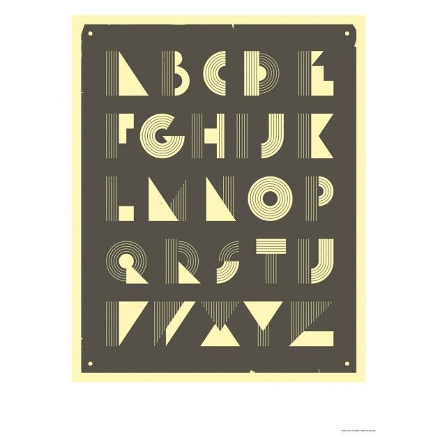 RETRO ALPHABET 50 x 70 print by Jazzberry Blue