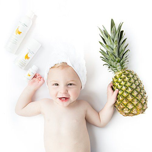Wash with Water 2 in 1 Baby Shampoo + Body Wash Unscented Shampoo, Certified Organic + Cruelty Free All Natural Shampoo + Hypoallergenic Shampoo for Cradle Cap + Sensitive Skin - Yummy Tubby 8oz