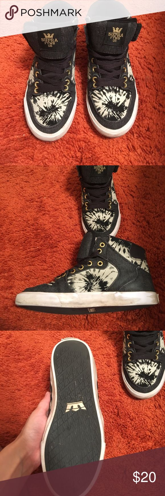 Supra high tops Decent condition however the back label is coming off. Supra Shoes Sneakers