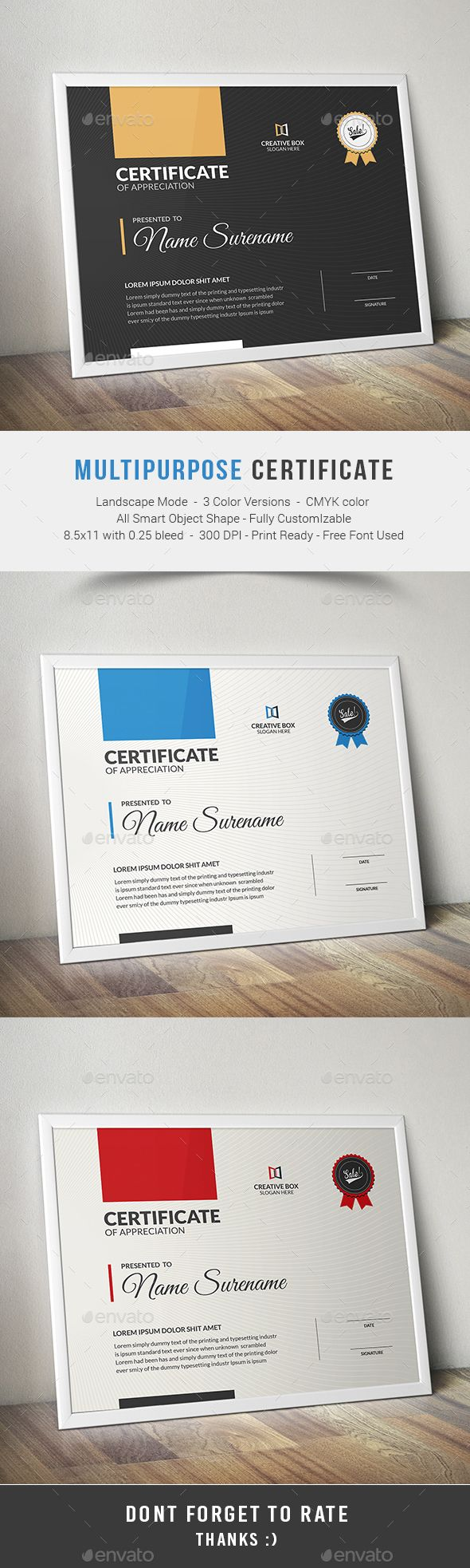 Certificate Template PSD. Download Here: Http://graphicriver.net/item