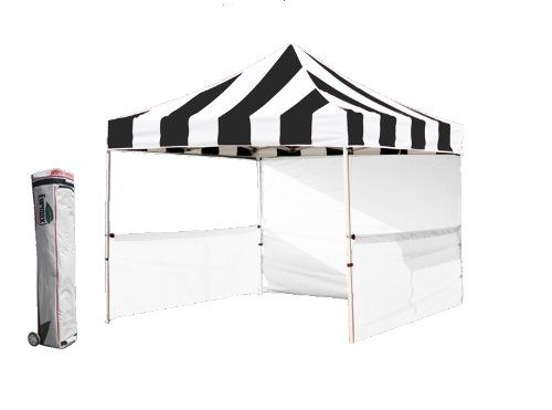 Profession 10x10 Pop up Tent Festival Canopy Portable Booth Instant Gazebo Market Stall (Stripe Black|white) Eurmax http://www.amazon.com/dp/B00C4OR3BO/ref=cm_sw_r_pi_dp_jjjRub0T2HMTK