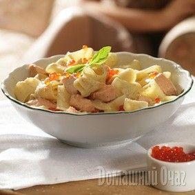 Самодельные папарделле с лососем в сливочном соусе