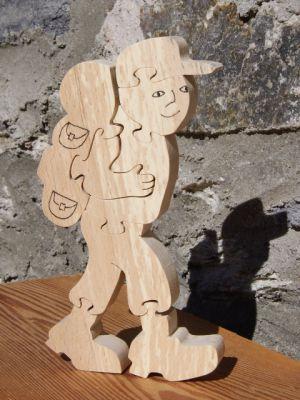 randonneur puzzle 8 pieces en bois