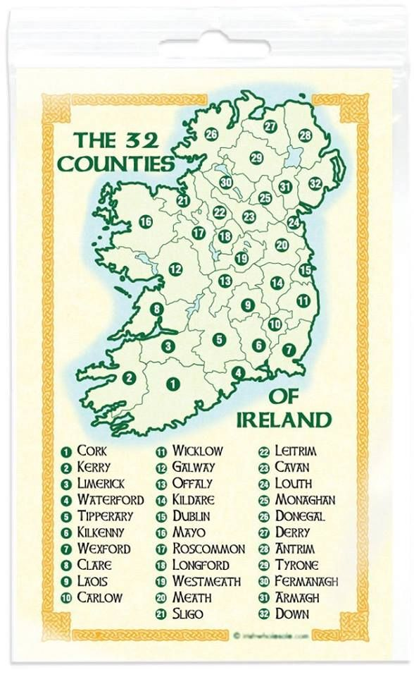 My Grandfather and my great-grandmother are from #32 County Down, Killyleagh My great-grandfather is from #31 County Armagh, Lurgan