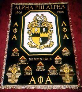 alpha phi alpha | Alpha PHI Alpha Founders Afghan Throw Blanket | eBay