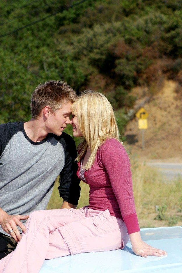 "This casual make out on the hood of a car. | 13 Rare Photos Of The Cast Of ""A Cinderella Story"" That Will Give You All The Feels"