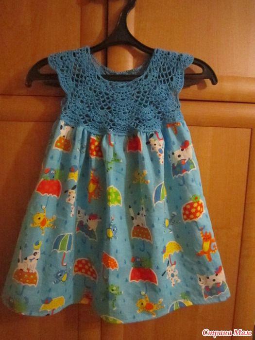 Всем привет! Сделала ещё одно платьице для одной очаровательной девочки.  Схема, которую я использую. Спасибо за внимание