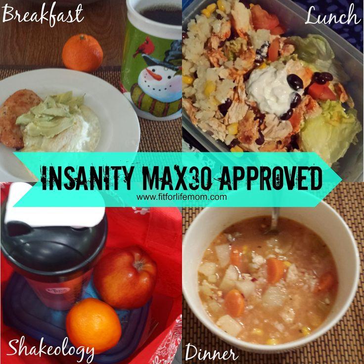 Insanity Max30 1 Week Review, Week 2 Meal Plan