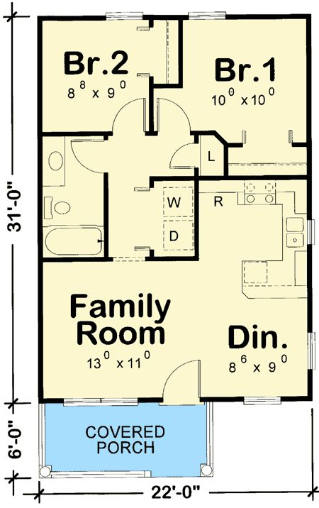 plan 42332db cozy 2 bed tiny house plan - Tiny House Plans 2