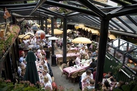 Grøften restaurant inside Tivoli, Copenhagen. If you want traditional Danish food, beer and a pub-like, informal atmosphere.