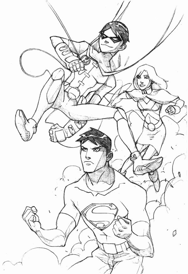 Justice League Coloring Page New Top Superma And Robin From Young Justice League Coloring Page Young Justice League Bear Coloring Pages Coloring Pages