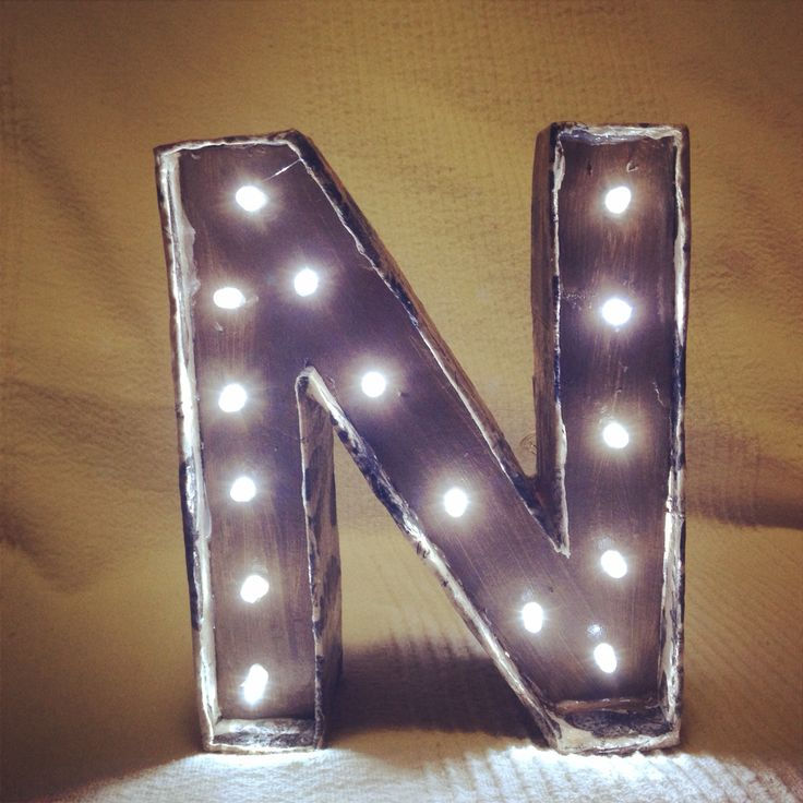 Deco letter with led's! By me! It's the first! Be patient!  #decoration #letter #letras #wedding #boda