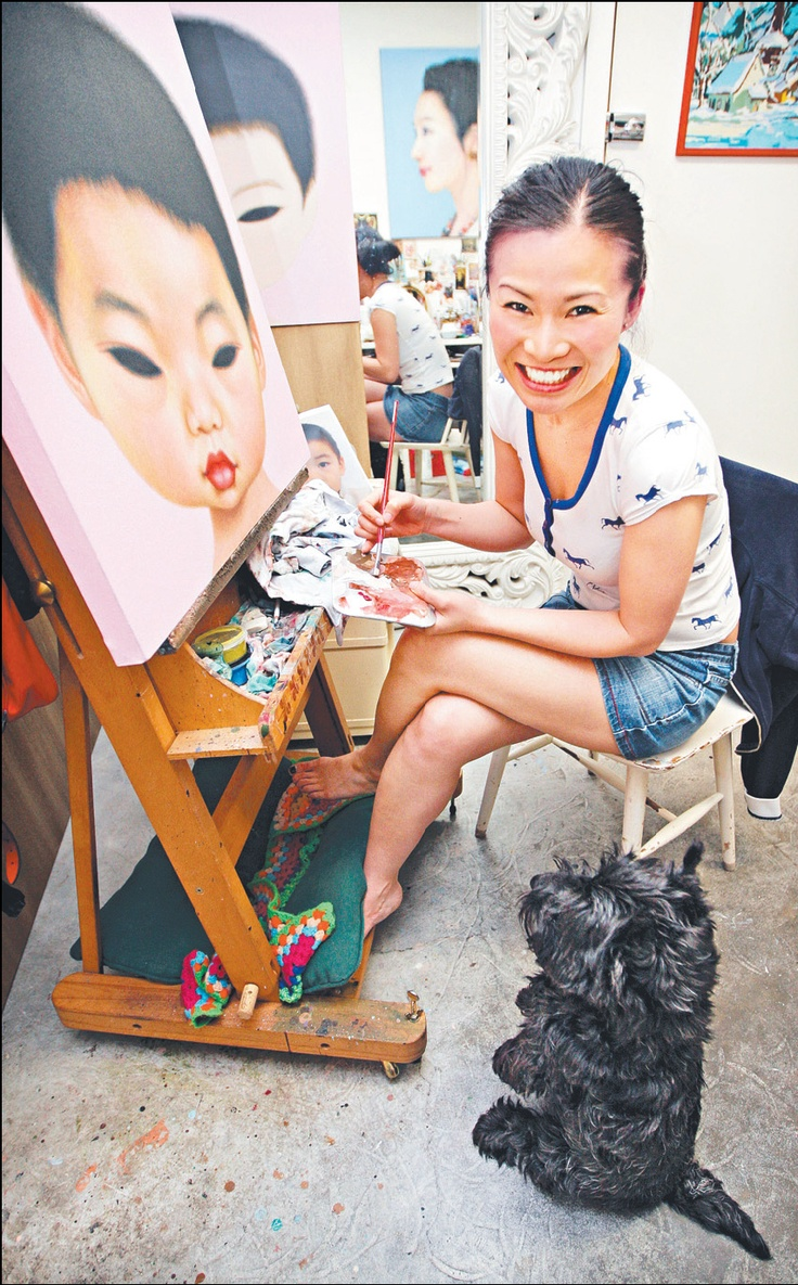 Poh Ling Yeow (b1973), a Malaysian-born Australian artist, actress and runner-up in MasterChef Australia.