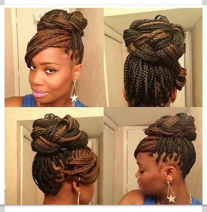35 best box braids images on pinterest hair tights and black box braided up do pmusecretfo Choice Image