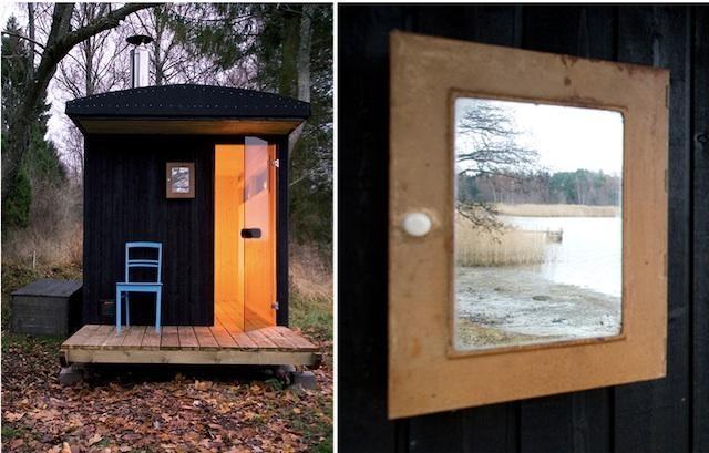 Finnish sauna by a lake?  Don't mind if I do!  And, this one apparently was a DIY creation for under 6k.  http://www.dezeen.com/2012/02/13/denizen-sauna-by-denizen-works-friends/