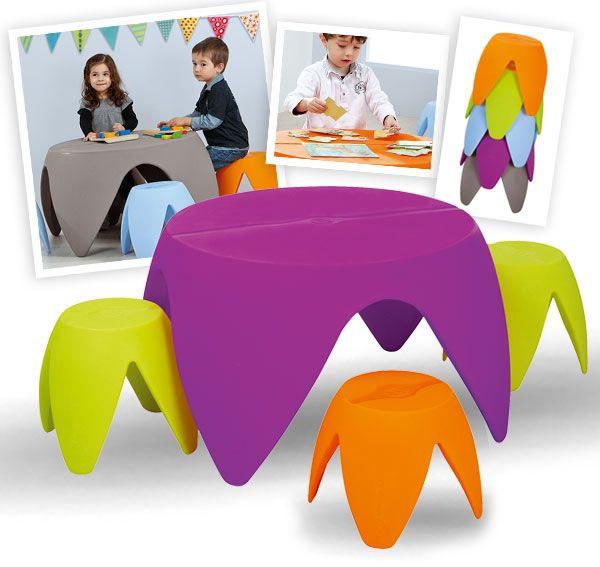 Gamme de tables et sièges d'extérieur empilables pour enfants - Wesco