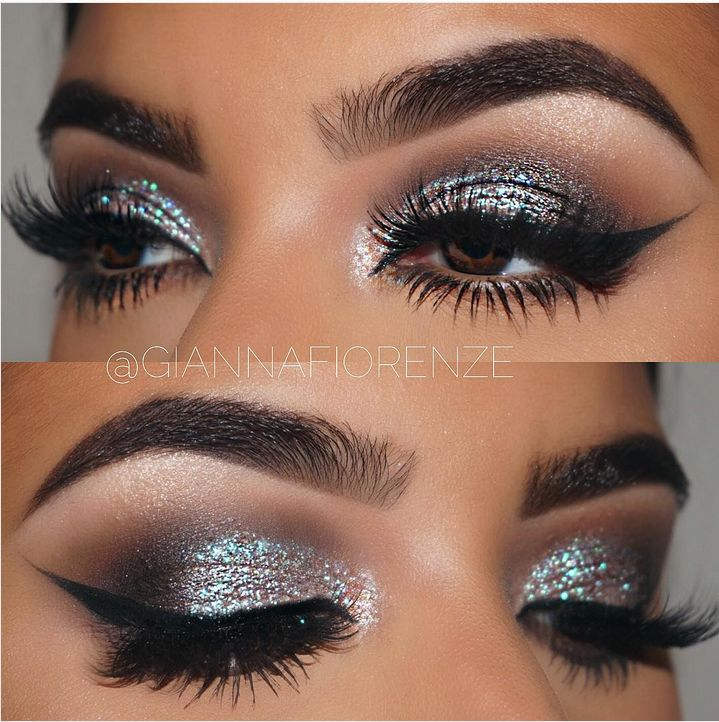 green duochrome smokey eye @giannafiorenze w/ winged liner #makeup #smokey #eyeliner