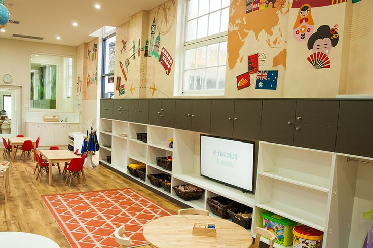 Travel themed Preschool room for 3-4 year olds at Greenwood Concord. www.greenwood.com.au