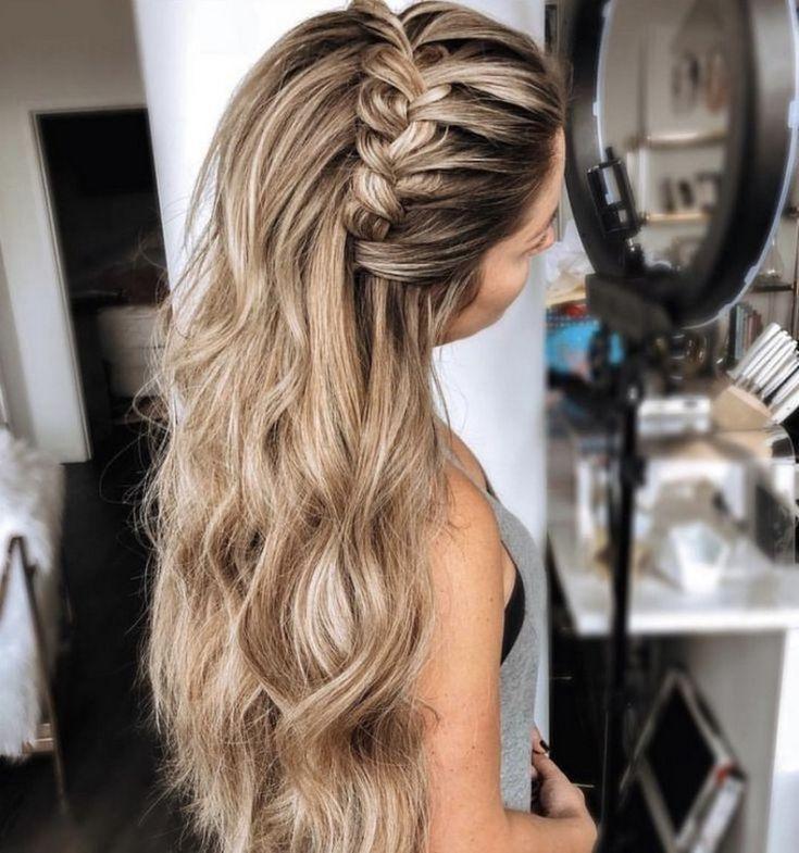 34 Brilliant Half Up Half Down Wedding Hairstyles For 2019 Weddinghairstyles Brilli Wedding Hairstyles For Long Hair Headband Hairstyles Braids For Long Hair