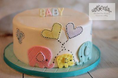 Baby Shower Cake, Elephant cake. Baby cake