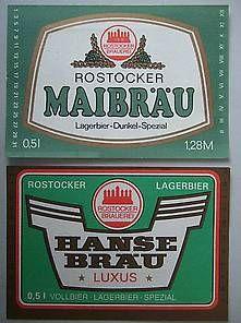 bier ddr | DDR-Bier-Etiketten - Rostocker Brauerei, Lagerbier kaufen bei Hood ...