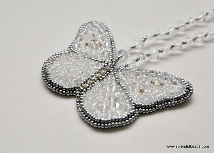 Crystal White Butterfly