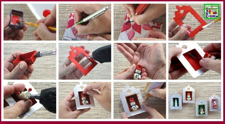 Enfeites de Natal feitos com caixa de fósforos e caixa de leite: Good Ideas, Art Boxes, Natal Ideia, Altered Matchbox, Two People, Crafts Matchbox, De Fósforo, Enfeit Natal, Natal Christmas
