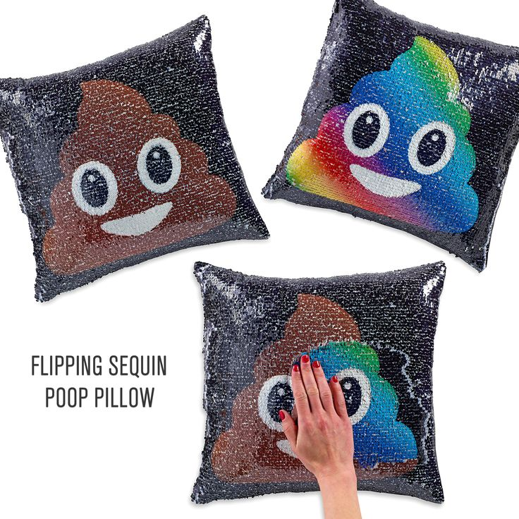New flipping sequin pillows with emoji faces. Flip the sequins back and forth to change the face. The cutest mermaid pillow around!