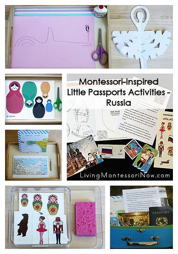Montessori-inspired activities that work well with the Little Passports Russia package, including links to free printables and activity ideas for any study of Russia #Montessori #homeschool