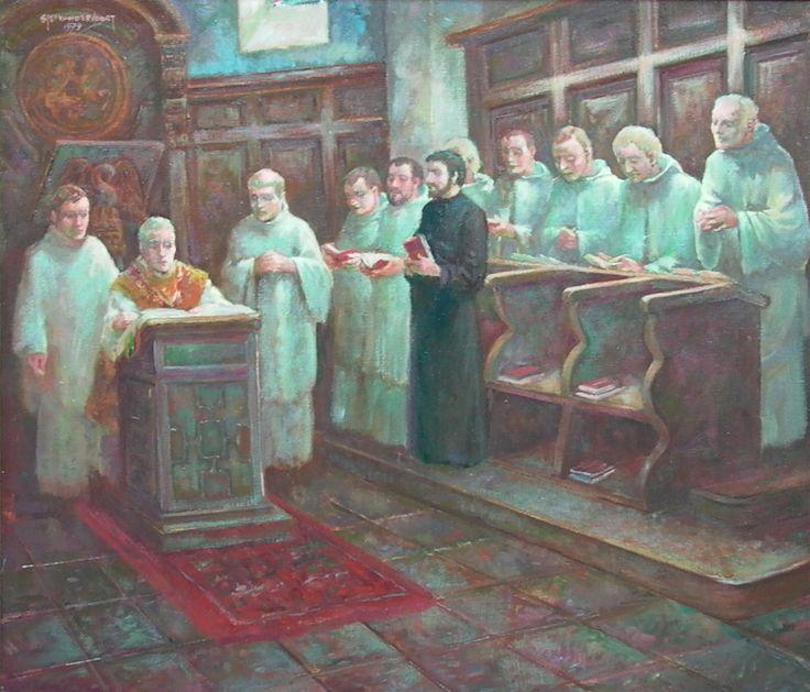 Mis in de abdij van Postel
