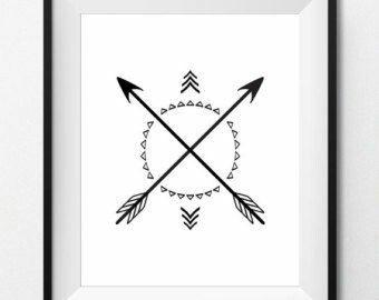 Este me gusta mucho!!!  Se supone que en los símbolos indios las flechas cruzadas significan amistad