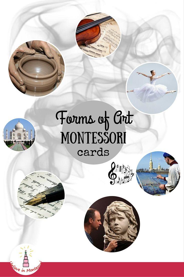 I Believe in Montessori: Art Appreciation: Level 1. Forms of Art Montessori Cards