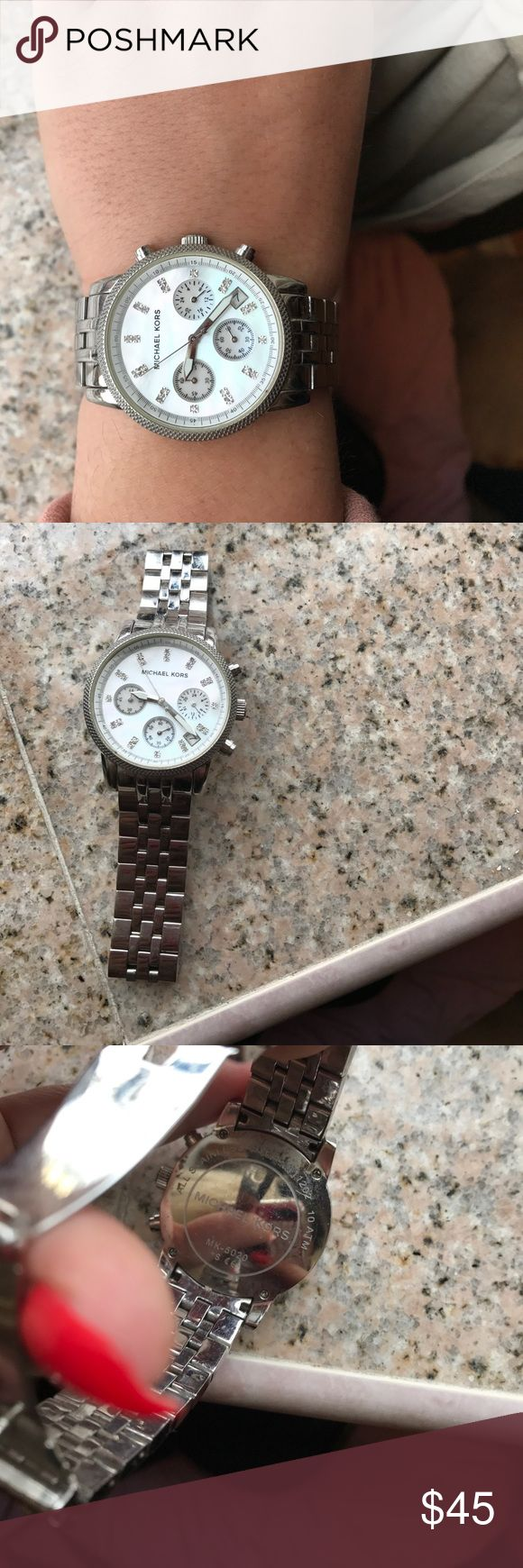 Michael Kors Sterling Silver Watch Authentic Michael Kors Watch . Do not have the old links to the bracelet, only two were taken off and should fit the average wrist! Michael Kors Accessories Watches