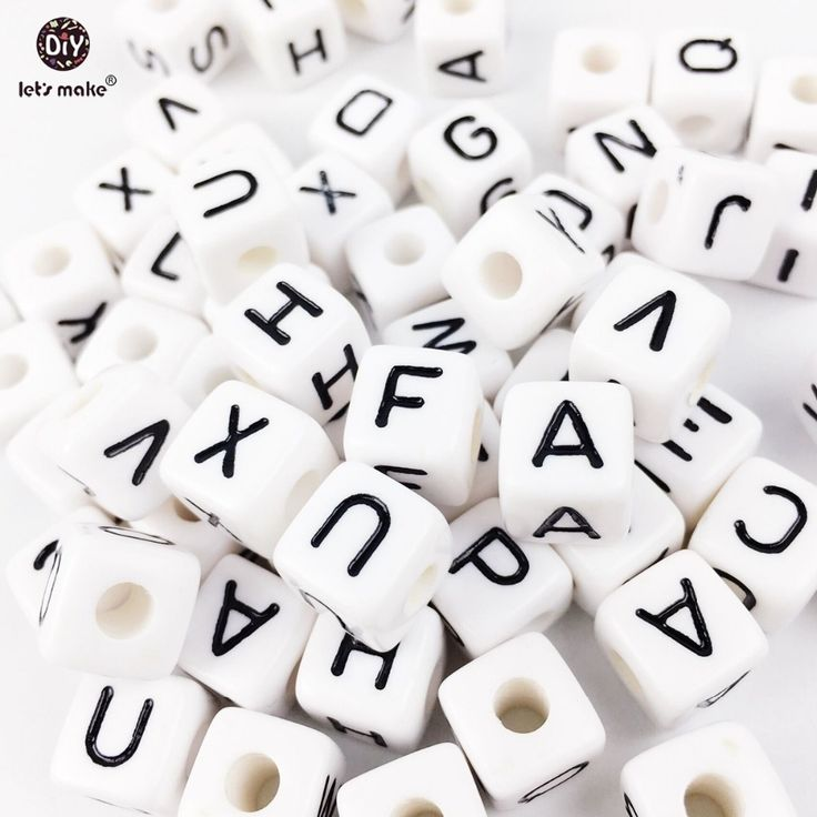 5.95$  Watch more here - Let's Make Different Alphabet White 100PC  Size Of 1 cm Beads Acrylic Letters Children Education DIY Plastic Beads   #SHOPPING