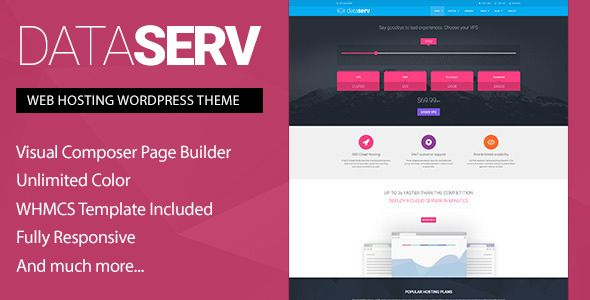 Dataserv - Professional Hosting WordPress Theme + WHMCS Template