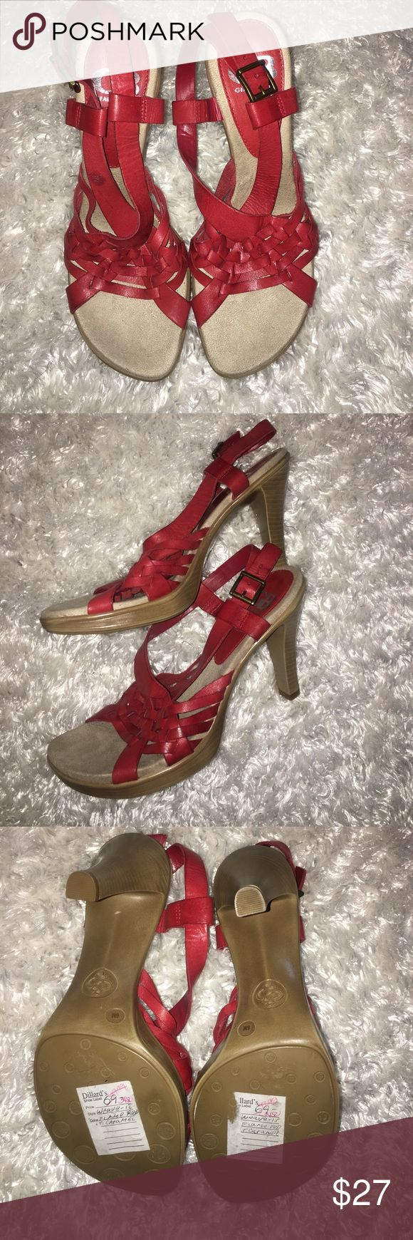 NWOT!! Gianna Bini Strappy Sandals/Heels NWOT!! Gianna Bini Strappy Sandals/Heels. Never worn. 6M Gianni Bini Shoes Sandals
