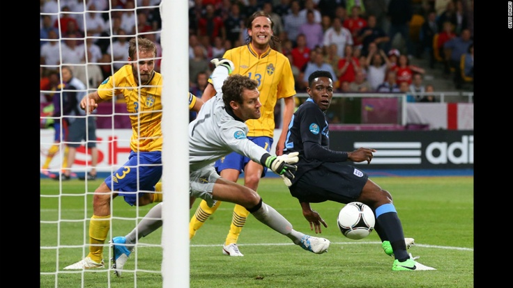 Danny Welbeck of England scores the third goal past Andreas Isaksson of Sweden. CNN.com