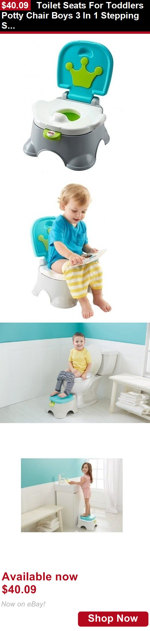 Potty Training: Toilet Seats For Toddlers Potty Chair Boys 3 In 1 Stepping Stool Kids Training BUY IT NOW ONLY: $40.09