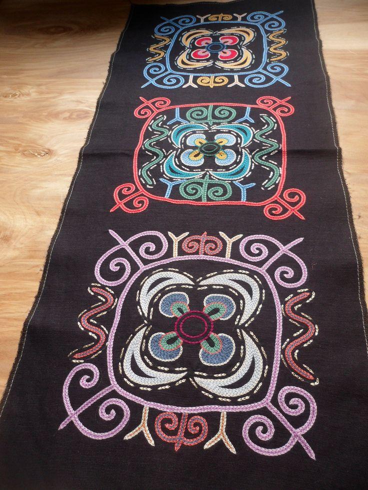 GlobeIn: Panel with Tradional  Kyrgyz #Embroidery #handmade