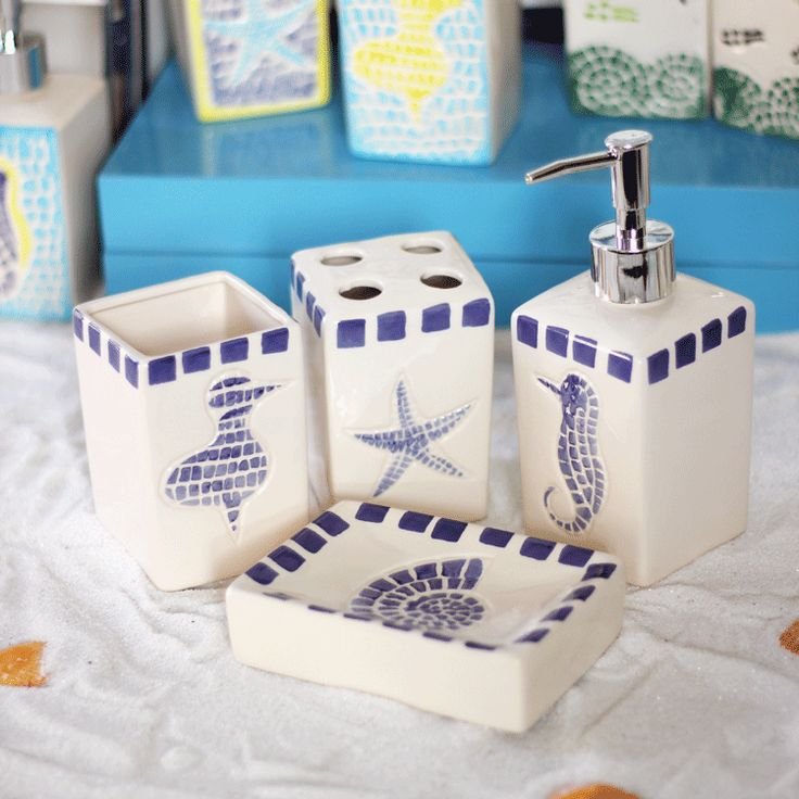 >> Click to Buy << Mediterranean bath accessories set ceramic toothbrush holder soap box of toothbrush cup creative gifts bathroom orgainzer #Affiliate