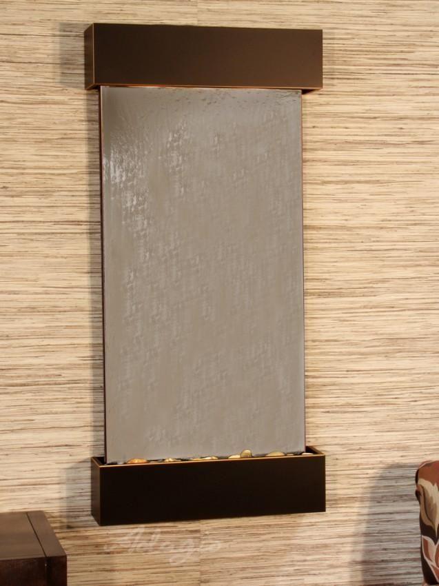 Adagio Whispering Creek Wall Fountain Wall Fountain Water Feature Wall Bronze Mirror